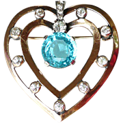 Mazer Vintage Heart Brooch
