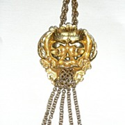 Huge Vintage North Wind Medallion Necklace