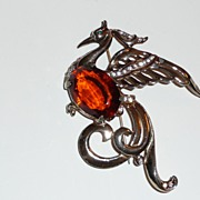 Large Reja Peacock Brooch