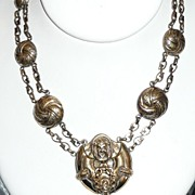 Victorian Revival Necklace Gargoyle