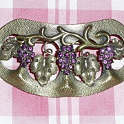 Art Nouveau Grapes Motif Sash Pin