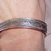 Beautiful Sterling Filigree Bracelet