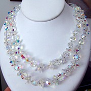 Glorious Rainbow Vendome Crystal Necklace
