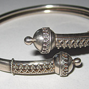 Victorian Silver Bypass Bracelet