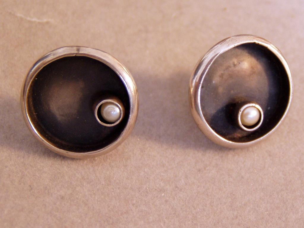 Sterling Modern Silver Artist Earrings