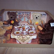 SALE Steiff Teddy Bear Tea Party Set � Limited Edition