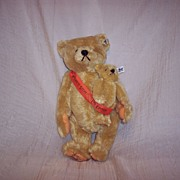 Steiff Teddy Bear � 2 Bear Set � Mama and Baby - Signed