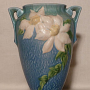 "SOLD Roseville Pottery - Clematis Blue 10"" Vase - #111-10"