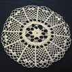 Handmade Crocheted Medium Size White Doily