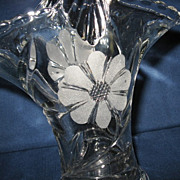 Duncan Miller Large Glass Flower Basket Vase