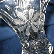 Duncan Miller Small Glass Flower Basket Vase