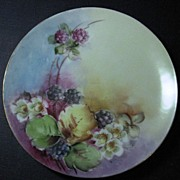 J. & C. Bavaria Floral Design Small Cabinet Plate