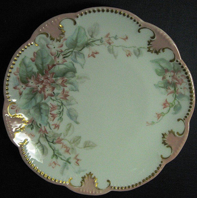 Limoges Signed Hand Painted Small Cabinet Plate