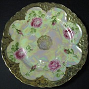 Three Crown China Pearlescent Small Cabinet Plate
