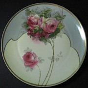 Z. S. & Co. Pink Roses Porcelain Cabinet Plate