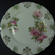 Pink & Yellow Rose Design Small Cabinet Plate