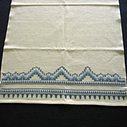 Swedish Weave Embroidered Kitchen Towel