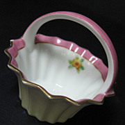 Noritake Hand Painted Miniature Porcelain Basket
