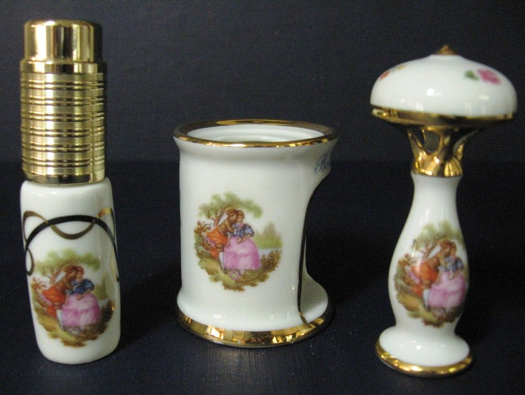 Collection of French Limoges Vanity Items