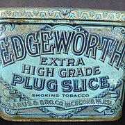 Edgeworth Extra High Grade Plug Slice Tobacco Tin Container