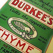 Durkee's Famous Foods Thyme Tin Container