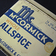 McCormick Whole Allspice Tin Container