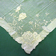 Madeira Ladies Large White Handkerchief