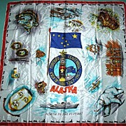 Alaska Purchase Centennial Souvenir Scarf