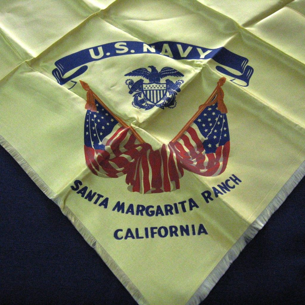 Souvenir Scarf U.S.Navy Santa Margarita Ranch California