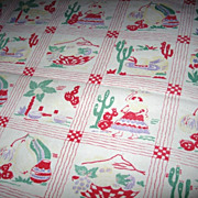 SOLD Southwest Print Cotton Tablecloth