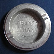 SOLD Hard to Find Vintage Boys Town  Aluminum Ashtray - Red Tag Sale Item