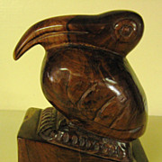 Carved Wood Toucan Bird Figurine