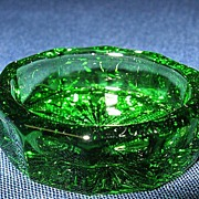 Bright Green Oval Salt Cellar