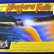 Souvenir of Niagara Falls Canada Folding Picture Postcard