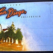 Visiting San Diego, California Folding Picture Postcard
