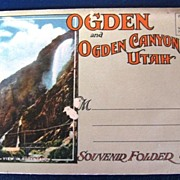 Ogden and Ogden Canyon Utah Folding Picture Postcard