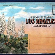 Souvenir Folder Los Angeles, California Picture Postcard