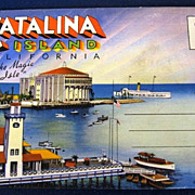"Catalina Island California ""The Magic Isle"" Folding Picture Postcard"