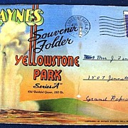 Folding Picture Postcard Souvenir Yellowstone Park