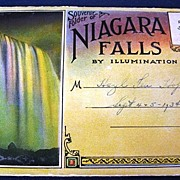 Souvenir Folder of Niagara Falls By Illumination Folding Picture Postcard