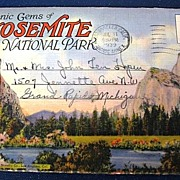 Scenic Gems of Yosemite National Park  Folding Picture Postcard
