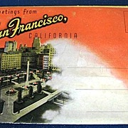 Greetings From San Francisco California Folding Picture Postcard
