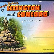 Souvenir Folder of Lexington and Concord Folding Picture Postcard