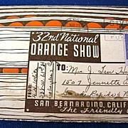 Folding Picture Postcard 32nd National Orange Show
