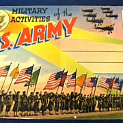 Military Activities of the U. S. Army Folding Picture Postcard