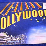 SOLD Hollywood Souvenir Picture Folder Postcard