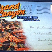 Grand Canyon National Park Arizona Folding Picture Postcard