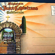 Mission San Juan Capistrano California Picture Postcard Folder