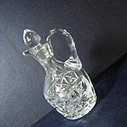 Pressed Pattern Glass Cruet