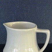 Restaurant Ware White Creamer Syrup Pitcher